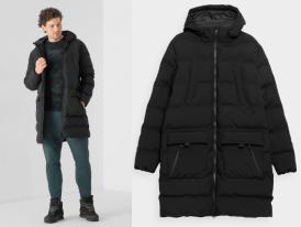 Nová kolekcia: Pánsky prešívaný predĺžený kabát 4F KUMP008