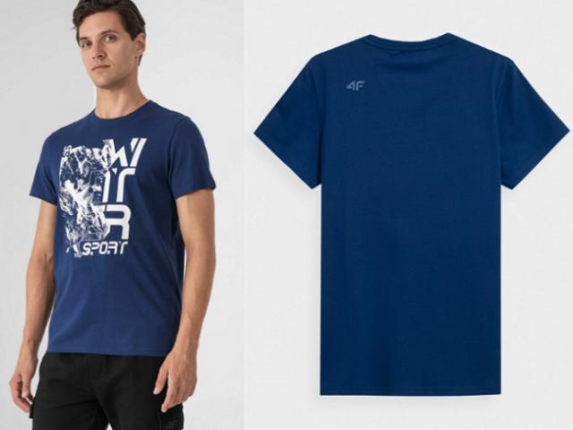 Pánske bavlnené tričko 4F Winter Sport TSM016