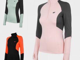 2021/22 AKCIA nová kolekcia: Dámske športové thermoroláky 4F Women's Underwear Stretch 1/2 Zip