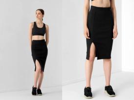 Nová kolekcia: Dámska midi sukňa s rozparkom 4F SPUD011