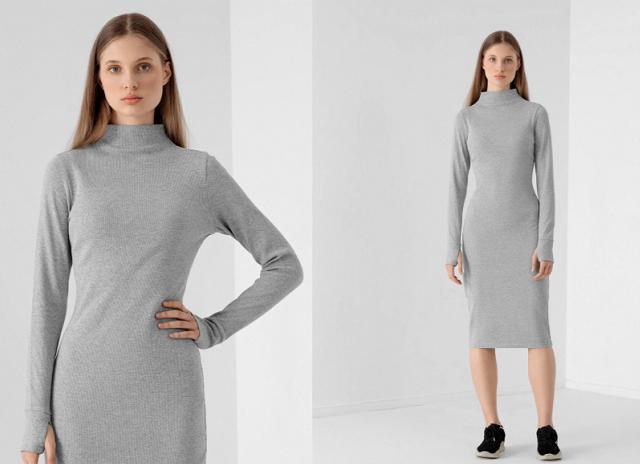 Dámske maxi šaty so stojačikom 4F SUDD013